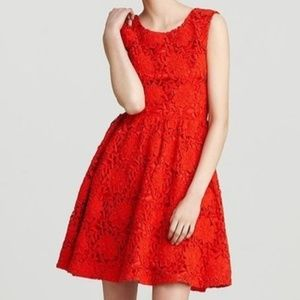 Kate Spade Red Lace Dress - Size 4